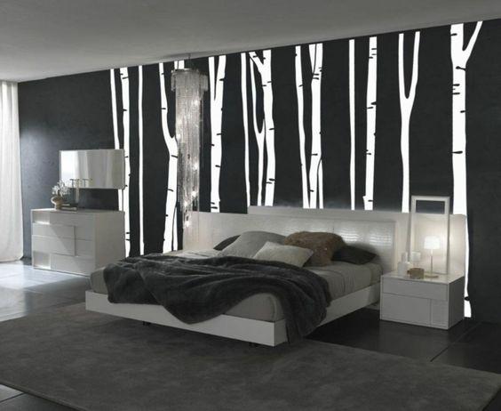 wandgestaltung schwarz weiß schlafzimmer einrichten weiss schwarz - auffallige wohnzimmer einrichtung frischekick