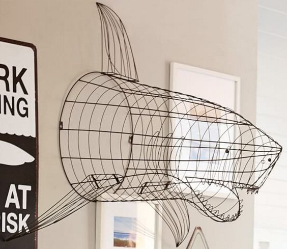 Shark Attack Wire Wall Decor