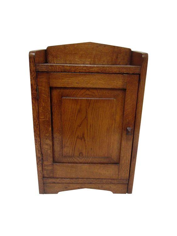antique wood cabinet English c 1850s