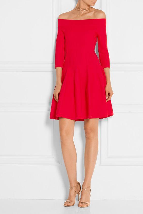 Jonathan Simkhai | Off-the-shoulder textured stretch-knit dress | NET-A-PORTER.COM