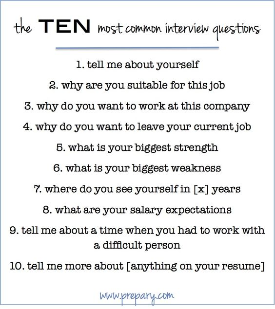 How to answer the 10 MOST common interview questions - bookmark this one for your next interview: http://www.prepary.com/how-to-answer-the-most-common-interview-questions/ #interviewtips #jobsearch
