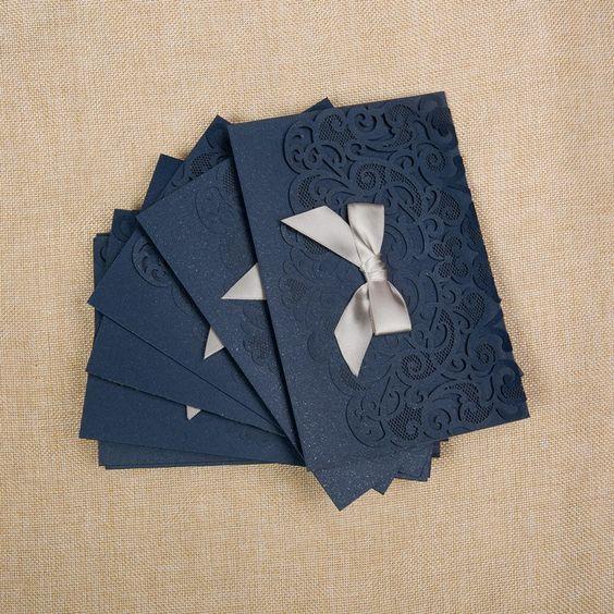 Pochette pour faire-part mariage - choisissez la couleur de la pochette et des accessoires