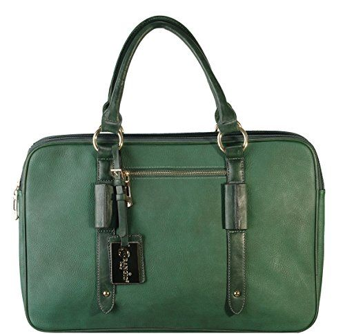 Arcadia Green Shoulder Office Bag Laptop Portfolio Document Purse OF6508-GN Arcadia U.S.A