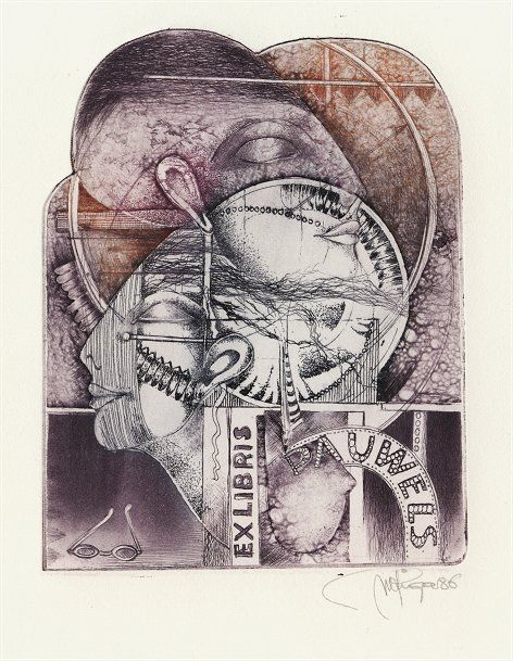 Ex-Libris de Yhoel: Peeters-Riga Jeanne Marie