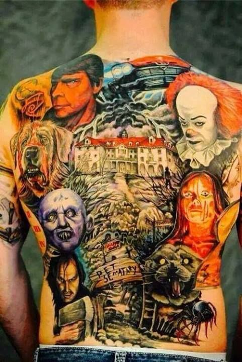 Man, this is a die hard fan! A full King backpiece... the portrait of the author though is not the best, kinda tan accident lol.