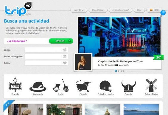 TripXP - El objetivo es proponer actividades a los viajeros, propuestas por los anfitriones locales, de las más diversas categorías.