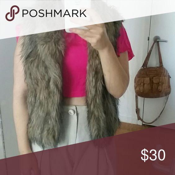 Fake fur vest Walter Baker fake fur vest with sweater detail in back Walter Baker Other
