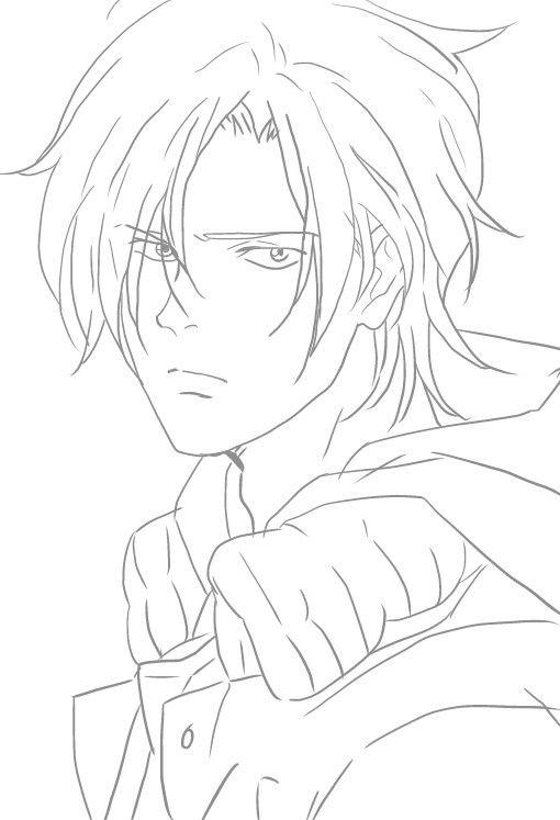 Ash Lynx Anime Lineart Fish Sketch Fish Drawings