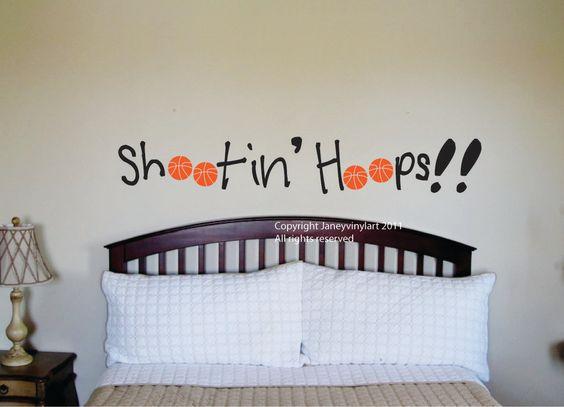 basketball decal vinyl wall art bedroom basketball wall design boys room vinyl