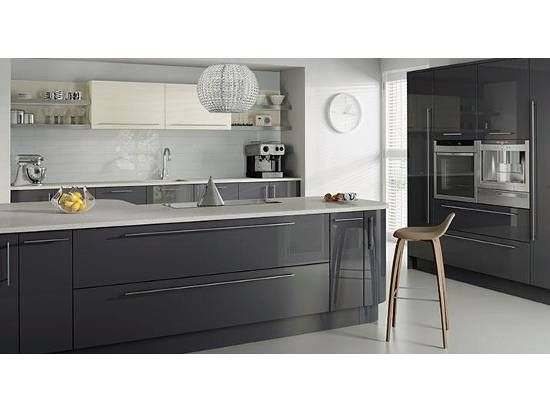 Dark Grey Modern Kitchen kitchens brochure, google search, grey kitchens, remo highgloss