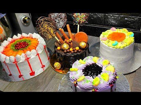 تزيين الكيك بطرق بسيطة وسهلة للمبتدئين Youtube Desserts Birthday Cake Food