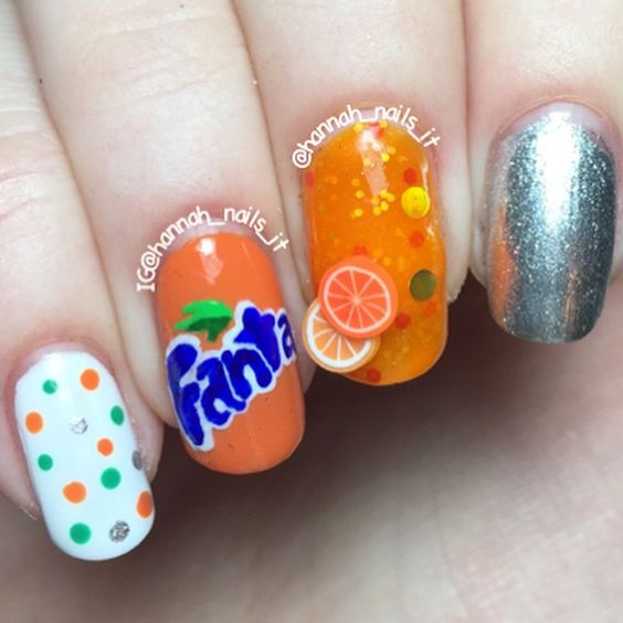 "Just Some Things I Like — Hannah on Instagram: ""Fanta nails minimal on...:"