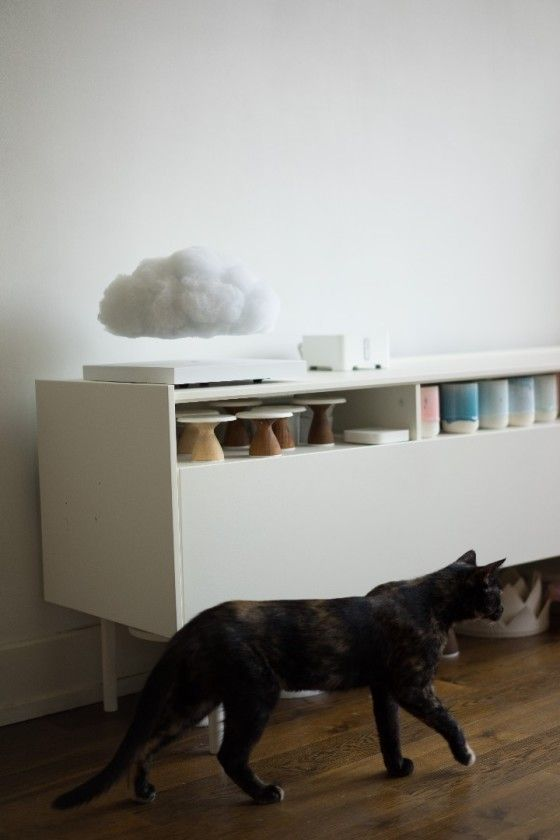 This Floating Cloud Lamp Is A Mini Thunderstorm For Your Coffee Table Cloud Lamp Clouds Design Levitation