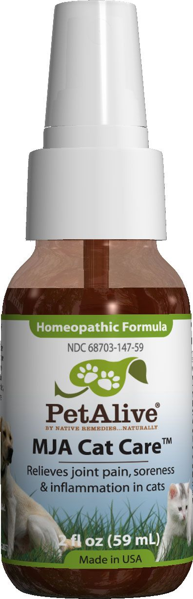 MJA Cat Care™ - Homeopathic remedy to temporarily relieve symptoms of muscle and joint discomfort in cats