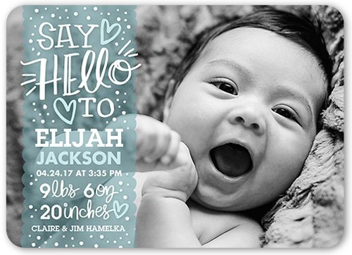 Sweetest Greeting Boy Birth Announcement – Birth Announcement Photos