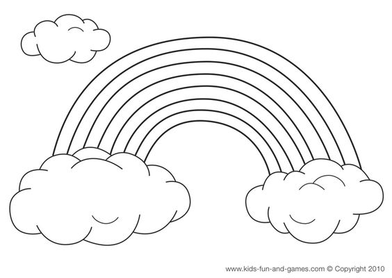 color and add cotton balls as clouds
