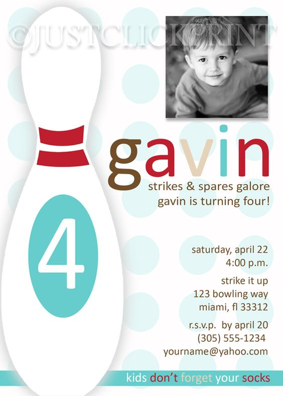Bowling Party Invitation with good invitation template