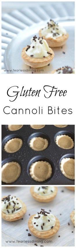 Cannoli, Gluten free and Gluten on Pinterest