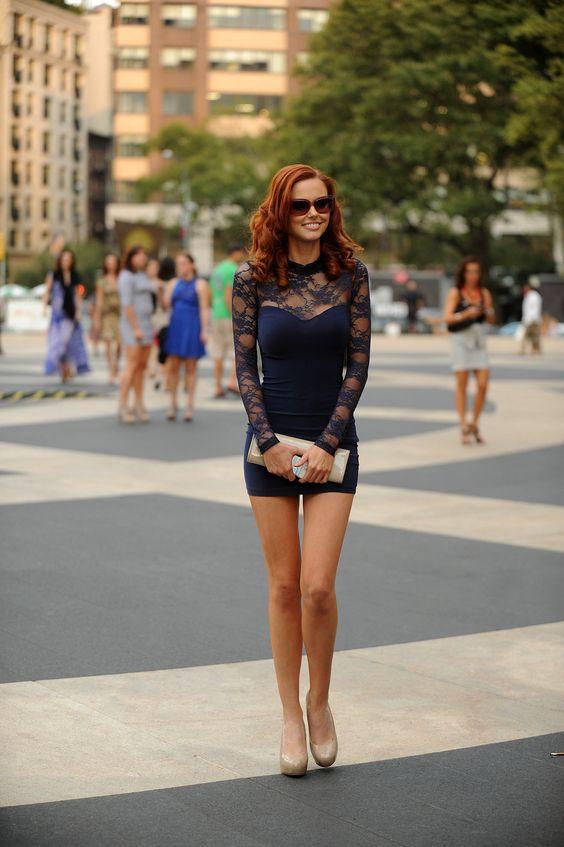 long dress heels redhead