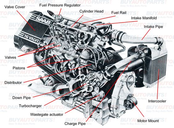 All internal combustion engines have the same basic components the – Interior Engine Diagram