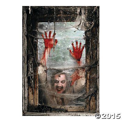 Zombie Window Backdrop Banner