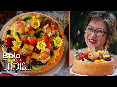 Bolo De Frutas Tropical Ou Bolo Primavera Super Macio E Cremoso