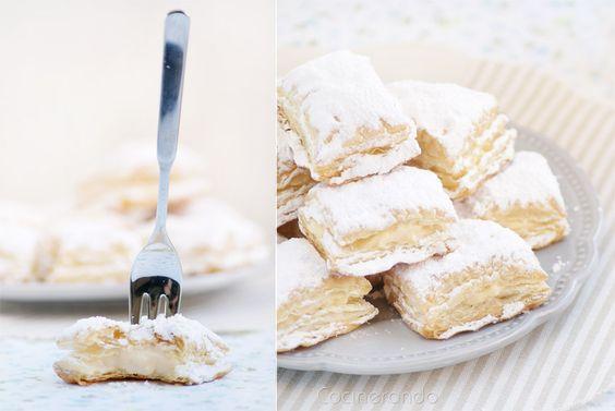 Cocinerando | Recetas de Cocina con Fotos: Miguelitos (mmmmm... Y también se pueden rellenar con crema chantillí !!!!!!!!!!!!!!!!!!*********************
