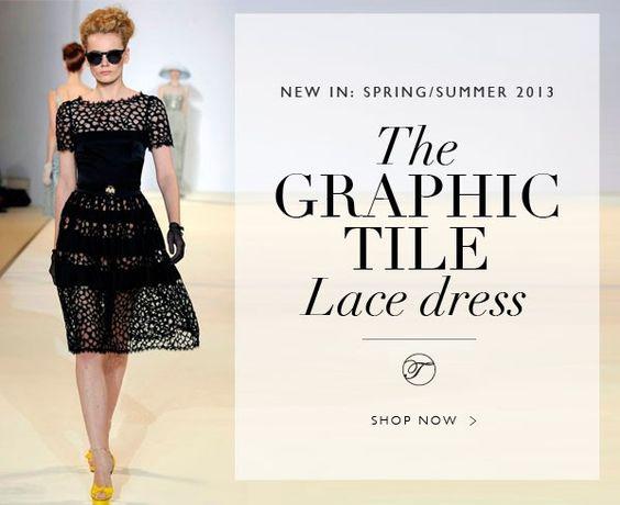 Temperley London - Shop The Graphic Tile Lace Dress
