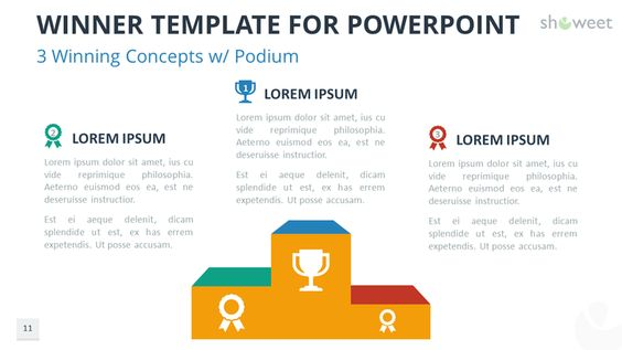 Free Winner Template For Powerpoint With  Winning Concepts And