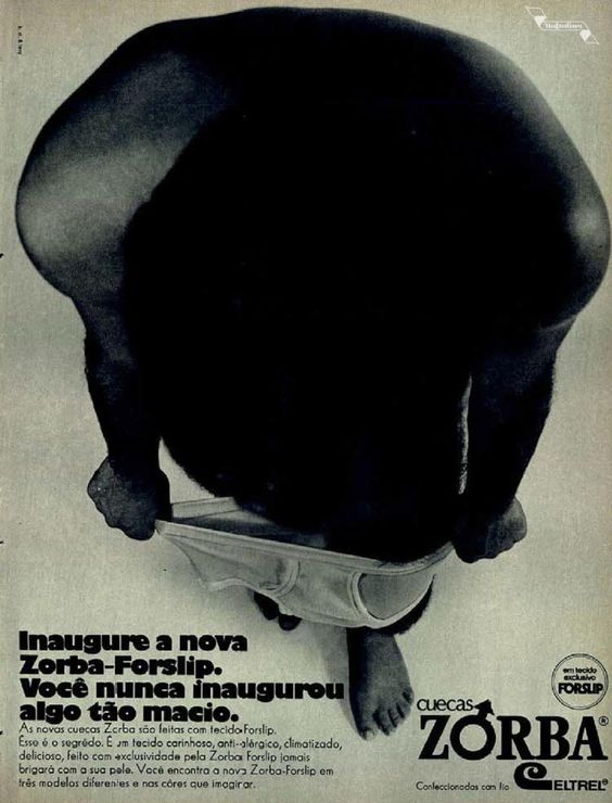 Cuecas Zorba #Brasil  #anos70  #retro #anunciosAntigos #vintageAds