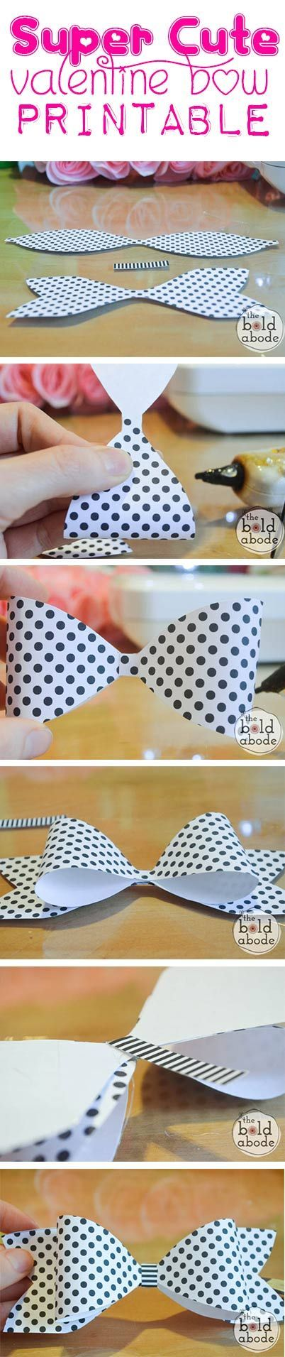 The perfect felt bow tutorial with printable template These make - bow template