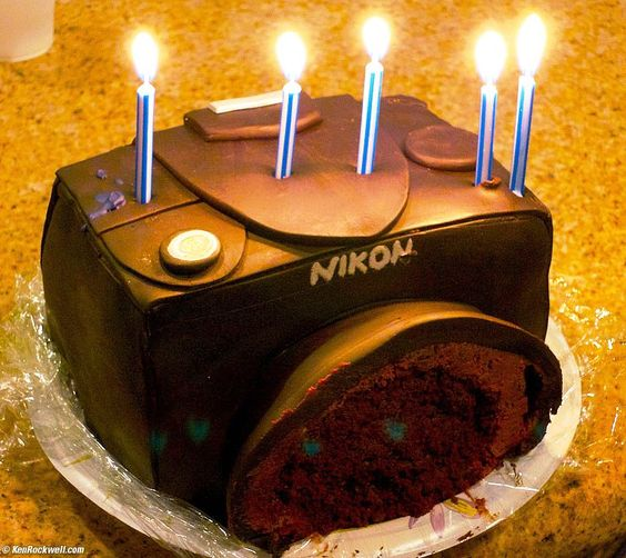 Camera cakes, Nikon cameras and Nikon on Pinterest