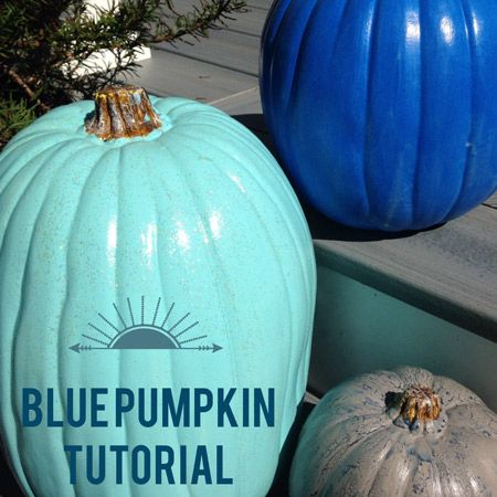 Blue Pumpkin Tutorial - love how @Jodi Grundig is taking #halloween to a whole new creative, crafty level . . . what do you think? blue pumpkins for you?