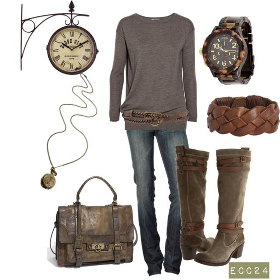 Love this! I've been wearing brown and gray together all winter long.