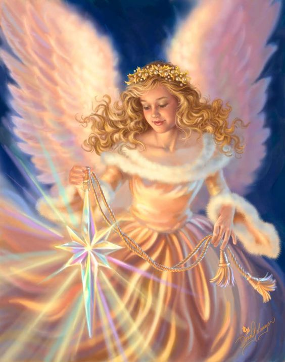 Angels Beauty Colored Faces: The Light Of The World