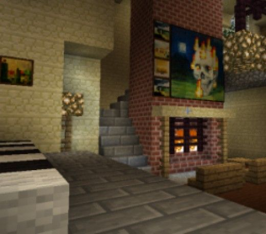 Living Room Minecraft minecraft furniture | minecraft furniture
