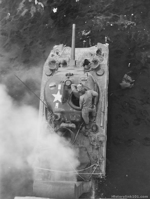 M4 Sherman on Iwo Jima, February 24, 1945
