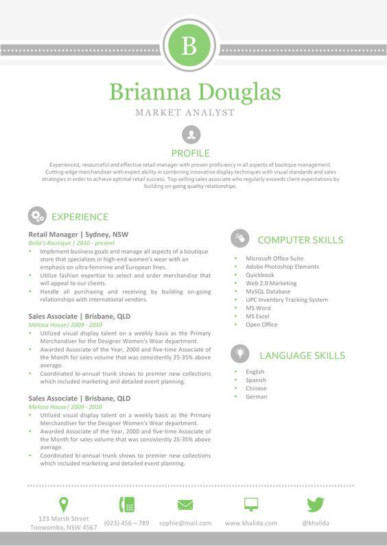 Brianna-Douglas_Resume-1 Resume Shop Pinterest Resume and Shops