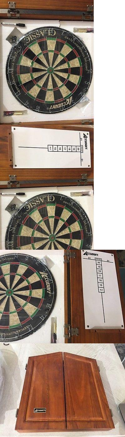 Dart Boards 72576: Accudart Union Jack Solid Wood Dartboard Cabinet Set  Model# D4223 BUY