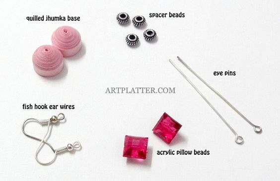 pink ear ring