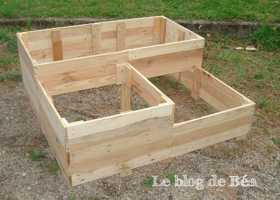 diy carr potager en bois de palette pinteres. Black Bedroom Furniture Sets. Home Design Ideas