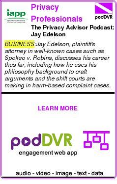 #BUSINESS #PODCAST  Privacy Professionals    The Privacy Advisor Podcast: Jay Edelson    READ:  https://podDVR.COM/?c=7e60cf85-6400-8985-3e96-9beb4099dfd4