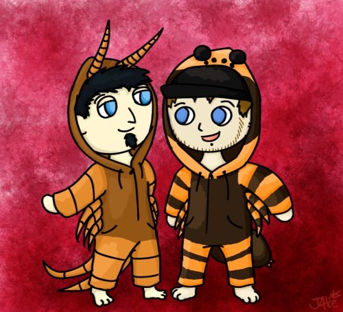 R & G IN ONESIES. THAT IS ALL.