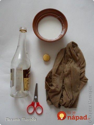 Staré silonky rozstrihala a navliekla na prázdnu fľašu: Trocha lepidla a nikdy by ste neverili, že toto bol predtým odpad!