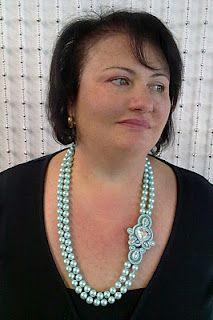 soutache cameo necklace: