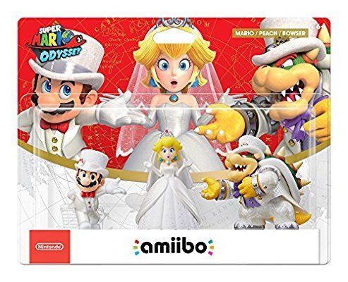 Amazon Com Amiibo Mario Peach Bowser Wedding 3 Pack