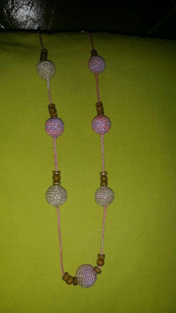 Collar de crochet realizado por Marisol