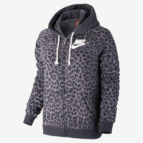 Nike Rally Full-Zip Cheetah Women's Hoodie