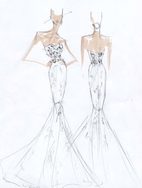 Exclusive: Spring 2015 Wedding Dress Sketches from Our Favorite Bridal Designers