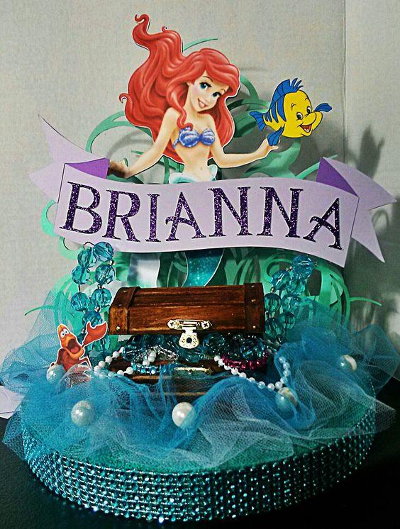 Little Mermaid Centerpiece by Gwendolyn Calderon with Miabella Creationz
